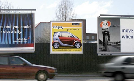 Smart-outdoor-billboard-little-small-car-alternative-marketing-street